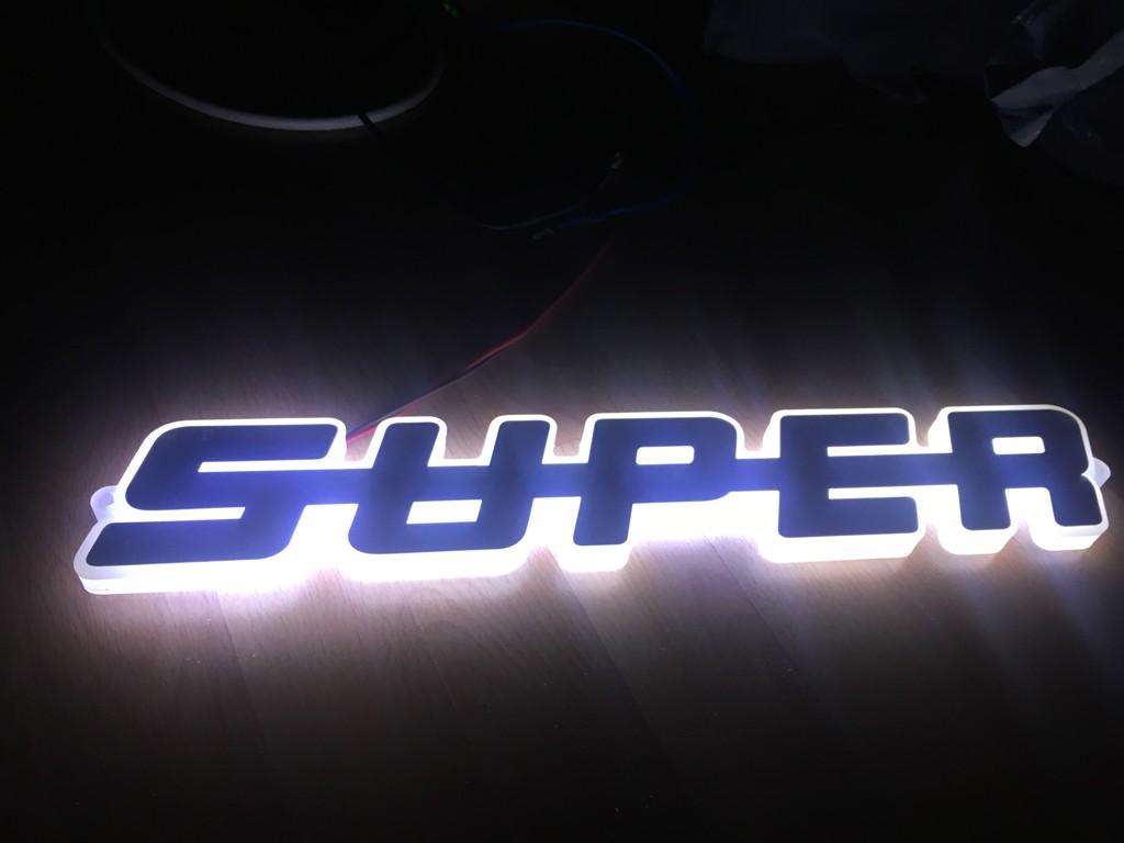 Universal LED Emblem Text ( SUPER ) 24V / WHITE